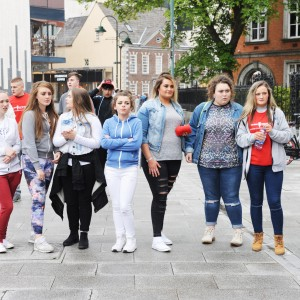 Enjoying the Rap-a-mile gig with GMC Beats on Emmet Place part of the Feel Good Friday party day in Cork. The event takes place on the last Friday of every month. Photo Billy macGill