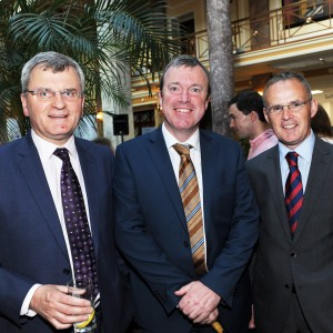 "Declan O'Connell (Declan O'Connell & Co.) Kevin O'Callaghan (Kevin O'Callaghan & Co.) and Sean O""Callaghan (AIB Branch Manager) at the Cork Business Association afterhours briefing on developments in Cork at AIB South Mall, Cork. Photo Billy macGill"