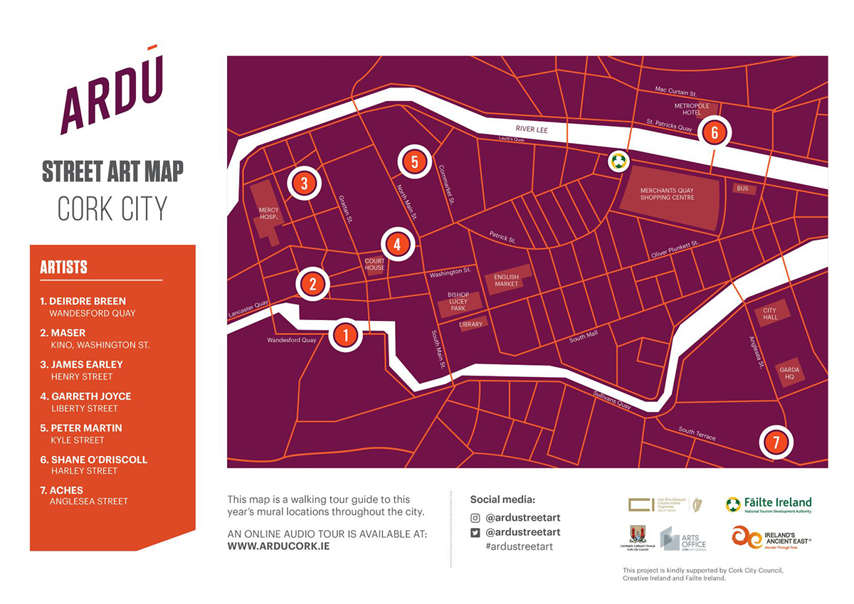 Map for Ardu Street Art Cork City