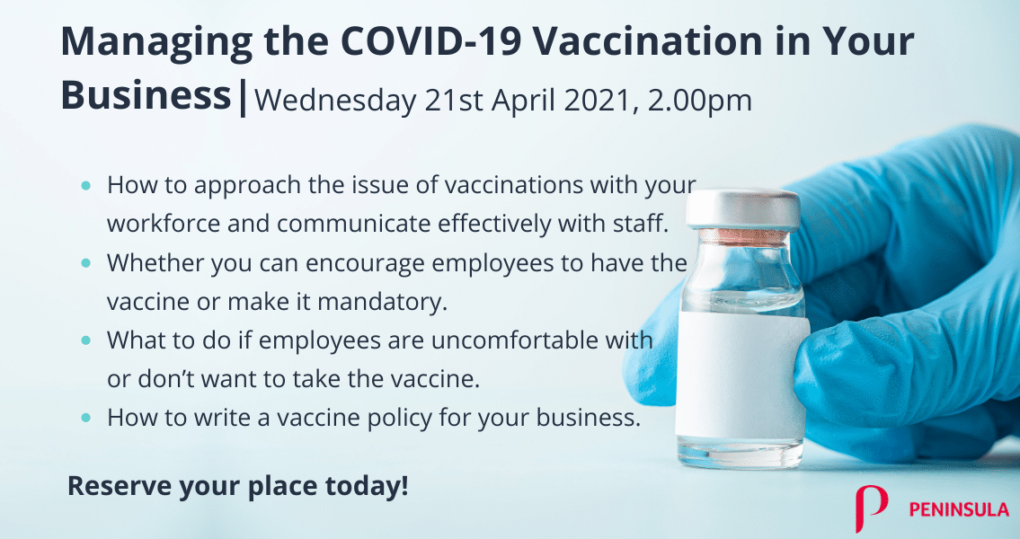 Mananging teh COVID-19 Vaccination in Your Business