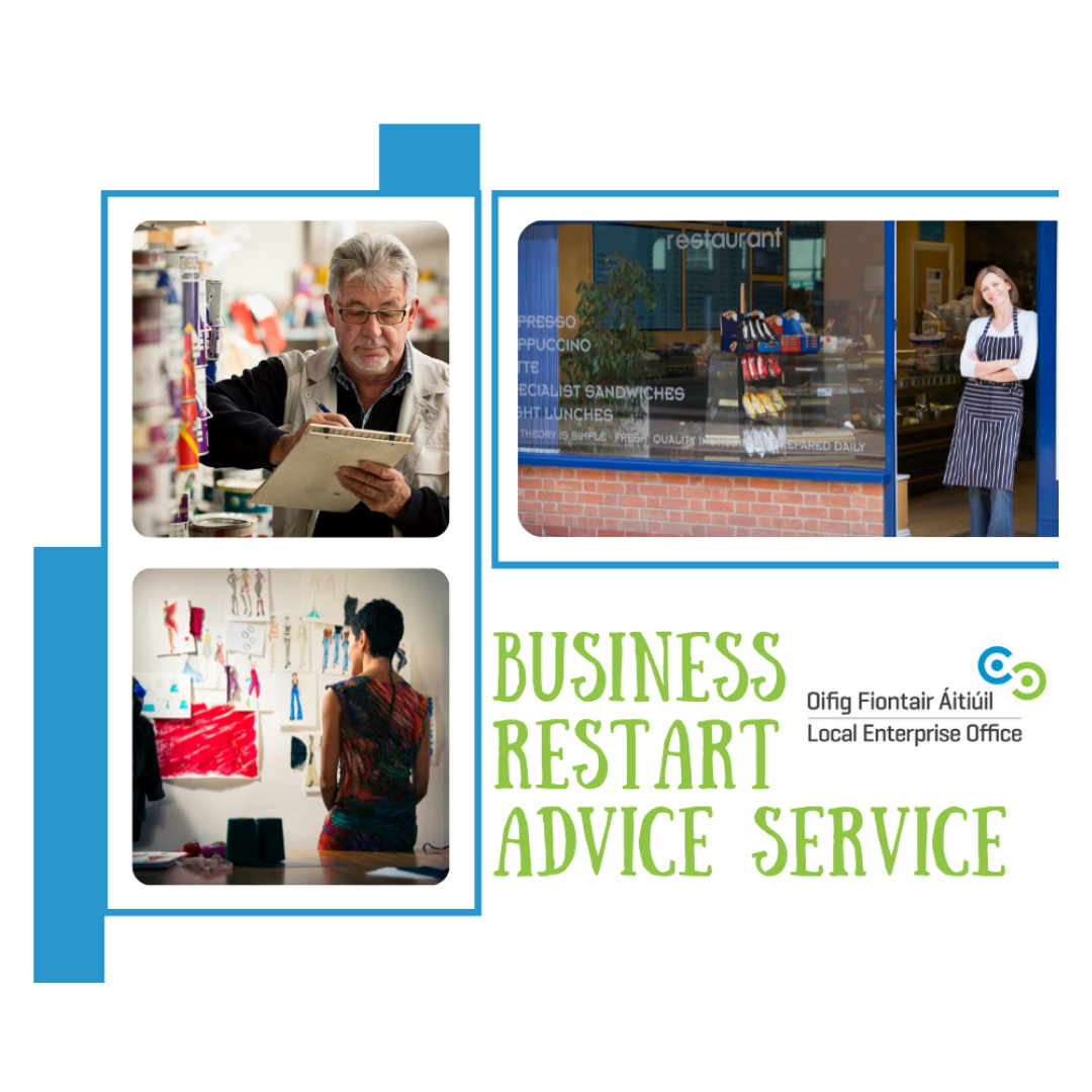 Ad for business restart advice service from Local Enterprise Office