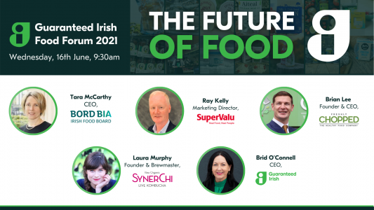 The Future of Food Forum poster for the upcoming event. The poster highlights the different speakers for the day.