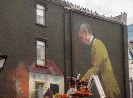 Conor Harrington finishing his mural at Bishop Lucey Park, Cork, Ireland.
